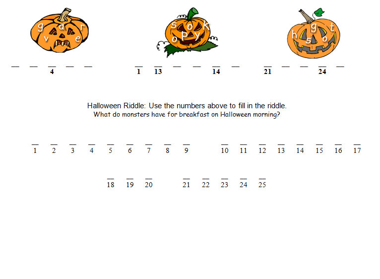 Halloween Math Worksheets & Activities | Math Game Time