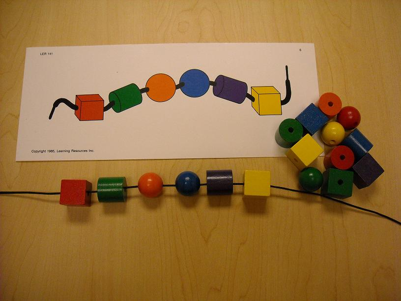 Bead String Worksheet String Beads by Color or Shape