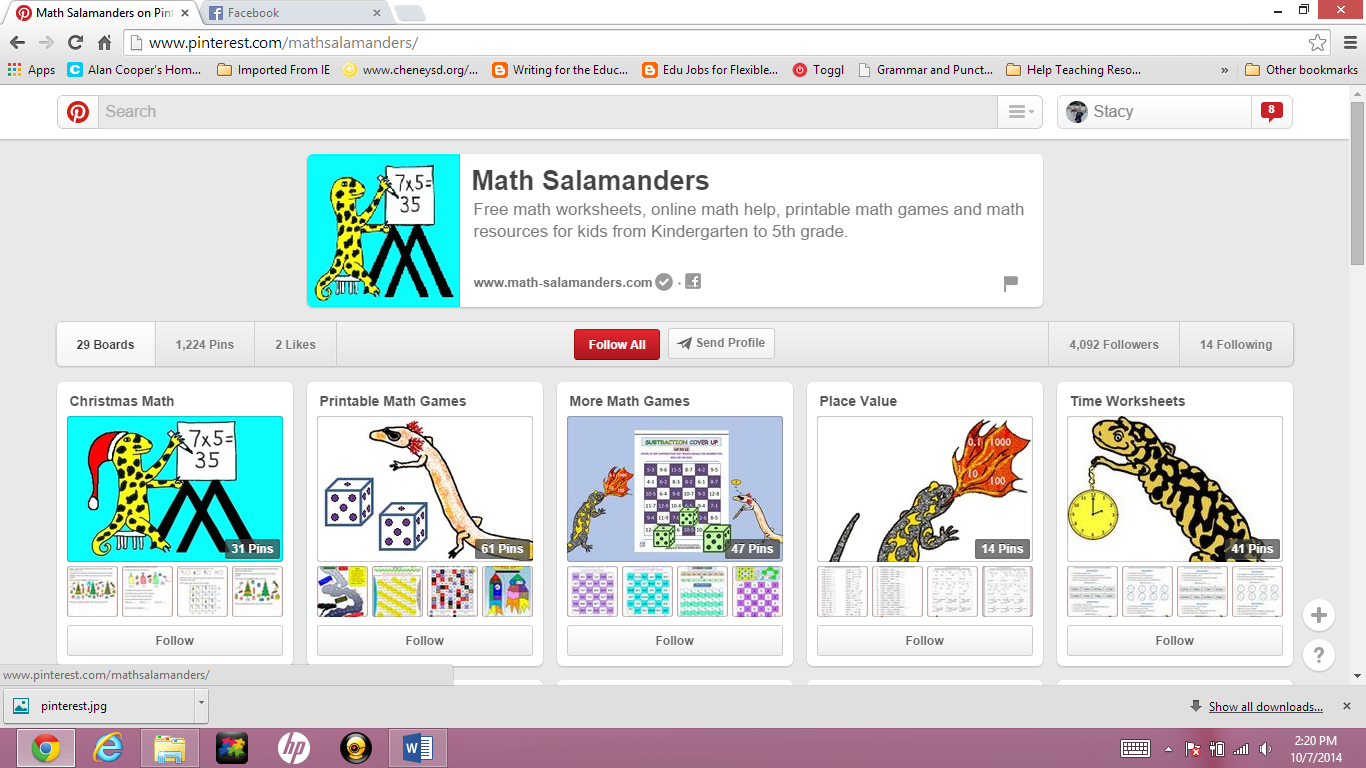 20 Math Boards & Pinners to Follow on Pinterest | Math Game Time